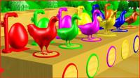 小鸭子走出棚子喝水趣味早教动画益智学颜色