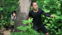 防拐骗系列7:田田躲大树后面,却踩到树枝发出声响,她能逃掉吗