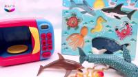 用变身箱拼装海洋动物木制模块