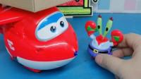 乐迪来给海绵宝宝送快递,可乐迪总是找错人,还是让蟹老板帮忙代收吧!