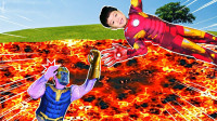 超级英雄益智游戏:好厉害,萌娃小正太怎么变身钢铁侠和绿巨人?可是家里怎么着火了?