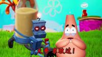 海绵宝宝比奇堡冒险29:怪物袭击了蟹老板的餐厅,需要派大星支援!