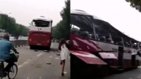 突发!济南一辆大客车疑似爆炸,路边居民楼玻璃震碎
