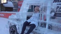 俄罗斯最强越野汽车,全身都是冰块,交警见了都不想拦?