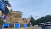 突发!西安新城广场明秦王府城墙坍塌,市民拍下坍塌瞬间