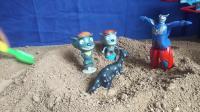 儿童玩具,好多沙子灰太狼,欧特曼一起玩耍