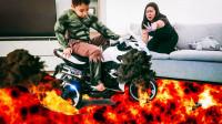 超级英雄益智玩具故事:超惊险,萌娃小正太的家怎么着火了?可是他变身绿巨人可以救出妈妈吗?