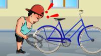 动画:男子将共享车据为己有,没想到第二天被教做人,太解气