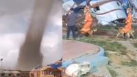 内蒙古龙卷风致33人受伤 百余顶蒙古包瞬间被吹倒 消防出动搜救犬