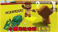 迷你世界:小肥龙老抢功劳引起熊孩子不满,遭整蛊出糗,被老师罚站