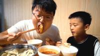 割点肉包饺子,一碗红油,四斤猪肉,红油饺子吃过瘾,肥羊太馋了