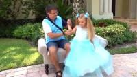 国外儿童时尚,小萝莉和女孩的故事爸爸的手真巧啊