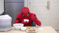 蜘蛛侠:蜘蛛侠吃了一顿丰盛的午餐