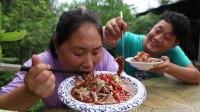 5斤猪肺3斤肥肠,胖妹做老北京卤煮,老香了,老公今天差点吃撑