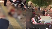 男子当街砍倒两人后自杀未遂 两人倒地不起一死一伤 直击救援现场