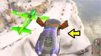 飞天兰博基尼撞直升机,猜猜谁能赢!哈哈哈