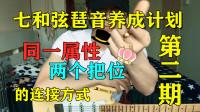【大猫儿吉他教学】同一属性的和弦琶音,换把位怎么练?