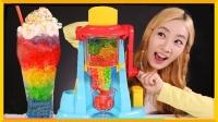 DIY夏日创意饮料!软软的彩虹果冻杯