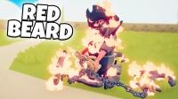 全面战争模拟器:火焰海盗船长,浑身冒火像是恶灵骑士!