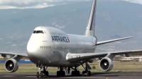 你追我赶!法航波音747繁忙跑道中起降,好强的气场