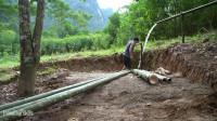水稻哥 第111集 原始的技术升级水系统(新的水线)用竹子制作 淋浴