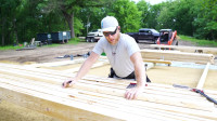 林中 建造木屋 第1部分 地基建造开始布局