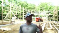 林中建造木屋 第2部分 框架柱框架墙