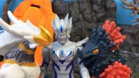 奥特曼玩具:怪兽古厄巴萨偷取罗布水晶,献给贝利亚