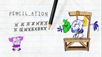 搞笑铅笔动画:铅笔女孩玩猜字母拼单词游戏,受惩罚的却是铅笔人