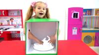 萌娃小可爱的神秘箱挑战赛好有趣呀,萌娃:原来钥匙在这里!