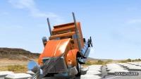 车祸模拟器:公路上出现大量石墩子,看看卡车从上面通过会怎样?