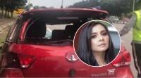 女星追尾翻车受重伤,抢救6天全身衰竭去世,车祸现场曝光