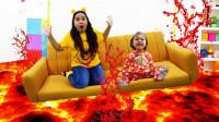 糟糕,萌娃小萝莉的家怎么突然着火了?可是爸爸如何拯救她?儿童亲子益智趣味游戏玩具故事