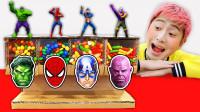 超级英雄益智游戏:萌娃小正太吃了魔法糖果吗?怎么变身蜘蛛侠和绿巨人?