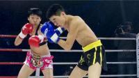 日本男拳手叫嚣中国搏击女王,被36秒KO教做人,裁判都傻了