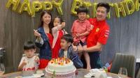 林志颖带双胞胎儿子参加生日聚会 小儿子表情搞怪太可爱
