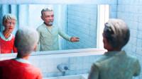老人患上阿尔兹海默症,看见镜子里的自己,还以为是家里进了贼