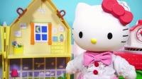 Hellokitty凯蒂猫的厨房过家家玩具 卡通游戏