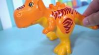 LEGO乐高积木的恐龙场景玩具卡通儿童游戏