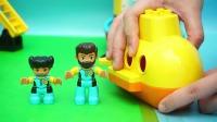 LEGO乐高积木的水族馆场景玩具卡通游戏玩具