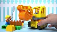 LEGO乐高积木的挖掘机拼装玩具卡通儿童游戏