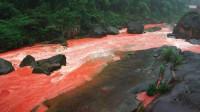 我国最会变色的长江支流,雨天河流大变色,颜色虽瘆人却壮观!