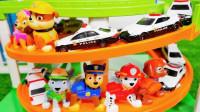 彩色滚筒滑梯工程车汽车玩具