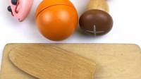 一起玩切水果切橙子和香菇
