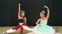 """当""""芭蕾""""遇上""""街舞"""",外国双胞胎姐妹现场斗舞谁更胜一筹"""