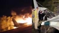 现场惨烈!乌克兰一军机坠毁至少25人丧生 机身散架燃起浓烟大火