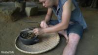 水稻哥 第113集 原始技能-升级排水隧道 烹饪 美食 享受淡水海鲜
