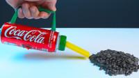买不起吸尘器怎么办?牛人用可乐罐打造一个,开关一按厉害了!
