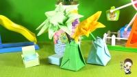 儿童折纸大全,小花瓶折纸