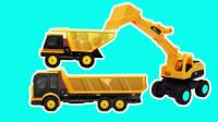 工程车游戏闯关动画合集05 装载机舍命为卡车装运货物